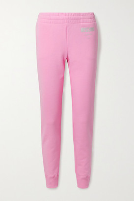 Moschino Cotton-jersey Track Pants - Baby pink