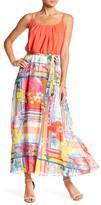 Robbie Bee Printed Skirt Maxi Dress