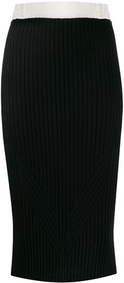 Philo Sofie Ribbed-Knit Pencil Skirt