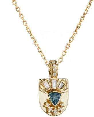 Celine Daoust Guardian Spirit Tourmaline Diamond Totem Necklace - Yellow Gold