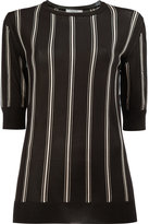 Lanvin striped half sleeve top - women - Viscose - M