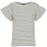 Max Mara Striped Flutter Sleeve T-Shirt