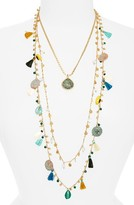 Tory Burch Women's Coin & Tassle Multistrand Necklace