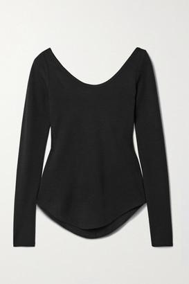 FRANCES DE LOURDES Aurelia Stretch-knit Top - Black