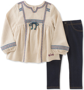 Lucky Brand Off-White Peasant Tunic & Jeggings - Infant, Toddler & Girls