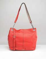 Calvin Klein Leather Tote With Chain Detail Handle