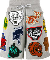 Facetasm patch track shorts - men - Cotton/Polyester - 3