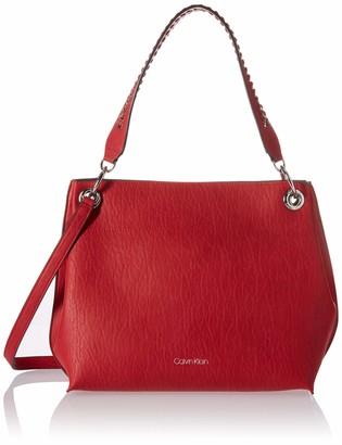 Calvin Klein Raya Double Handle Bubble Lamb Novelty Hobo Bag