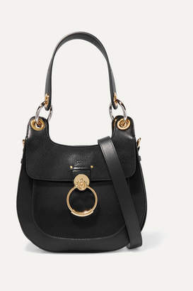 Chloé Tess Small Leather Shoulder Bag - Black