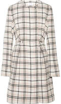 Carven Plaid Wool-blend Coat - Cream
