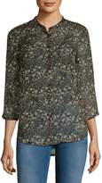French Connection Women's Hallie Printed Blouse