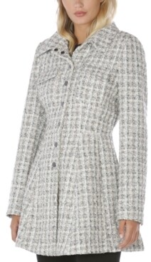 Laundry by Shelli Segal Single-Breasted Skirted Coat
