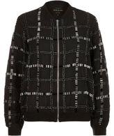 River Island Womens Black embellished bomber jacket