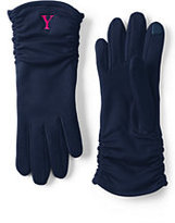 Lands' End Women's Casual EZ Touch Gloves-Midnight Sapphire