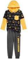Nannette Little Boys' 2-Pc. Batman Graphic-Print Hoodie & Pants Set