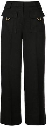 L'Autre Chose high-waist flared trousers