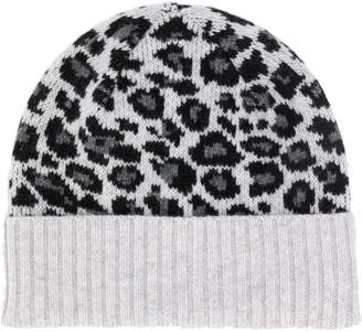 Paul Smith animal pattern knit beanie