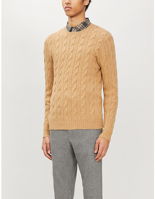 Ralph Lauren Purple Label Cable-knit crewneck cashmere jumper