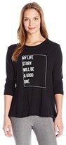"good hYOUman Women's Suzanne ""My Life Story"" Long Sleeve Tee"