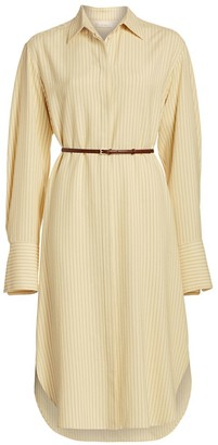 The Row Sonia Striped Shirt Dress