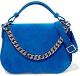 Calvin Klein Chain-trimmed Suede Shoulder Bag
