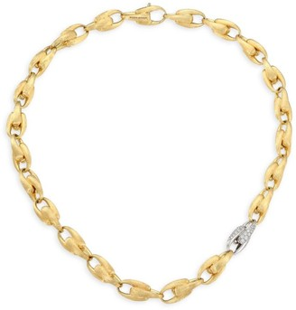 Marco Bicego Legami Diamond & 18K Yellow Gold Medium Link Chain Necklace