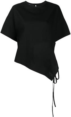 Y-3 short sleeve asymmetric T-shirt