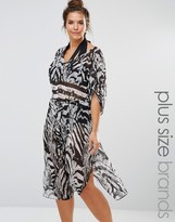 City Chic Animal Print Caftan