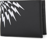 Neil Barrett White Thunder leather billfold wallet