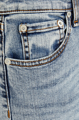 Rag & Bone Nina Distressed Acid-wash High-rise Kick-flare Jeans