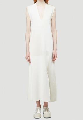 Jil Sander Front Slit V-Neck Midi Dress