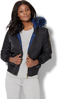 New York & Co. Faux Fur-Trim Bomber Jacket