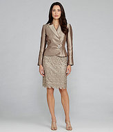 Tahari by Arthur S. Levine Tahari by ASL Woman 2-Piece Satin & Lace Skirted Suit