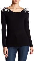 Sky Boling Beaded Dolman Sleeve Sweater