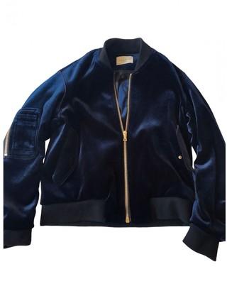 Sandro Navy Velvet Leather jackets