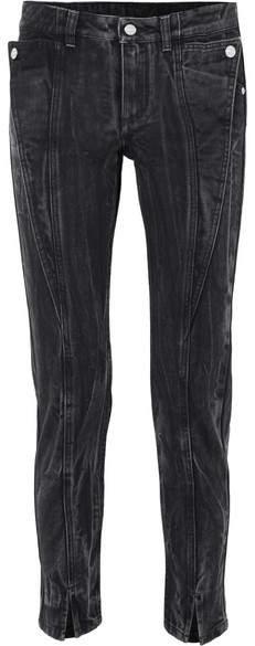 Givenchy Distressed Mid-rise Slim-leg Jeans - Black