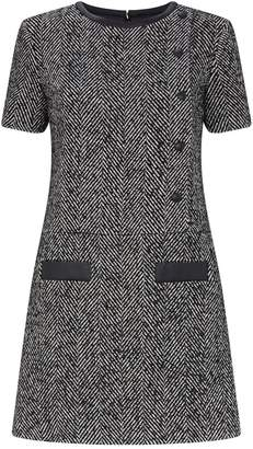 Claudie Pierlot Herringbone Tweed Dress