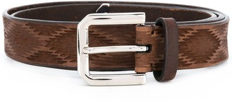 Brunello Cucinelli Carved Leather Belt