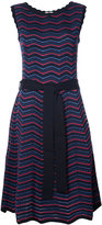 Carolina Herrera chevron pointelle skater dress - women - Virgin Wool/viscose - S