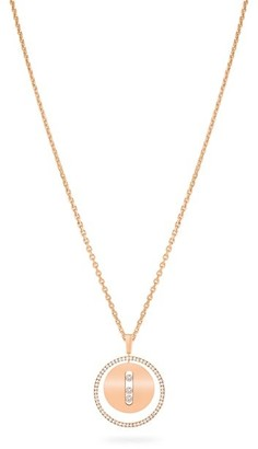 Messika Lucky Move MM 18K Rose Gold & Diamond Pendant Necklace