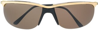 Persol Pre Owned 1970's Metal Frame Sunglasses