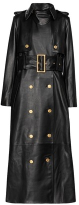KHAITE Ren leather trench coat