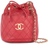 Chanel Pre Owned 1986-1988 Chanel Cosmos quilted CC chain shoulder bag