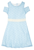 Blush by Us Angels Girls' Cold Shoulder Lace Dress - Big Kid