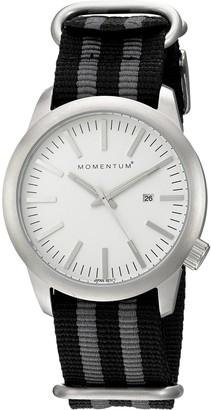 Momentum Men's Stainless Steel Japanese-Quartz Watch with Nylon Strap