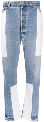 RE/DONE Cropped Panelled Jeans