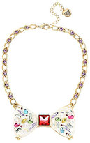 Betsey Johnson Sweet Shop Bow Frontal Necklace