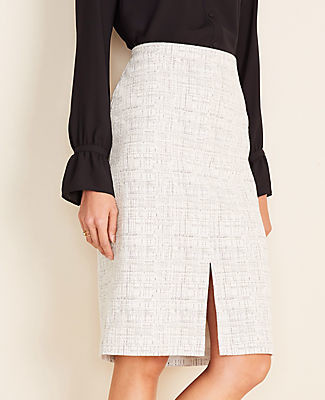 Ann Taylor Petite Front Slit Pencil Skirt