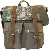 Realtree Leather-Trim Canvas Crossbody Bag