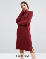 Micha Lounge Red Boucle Jumper Dress